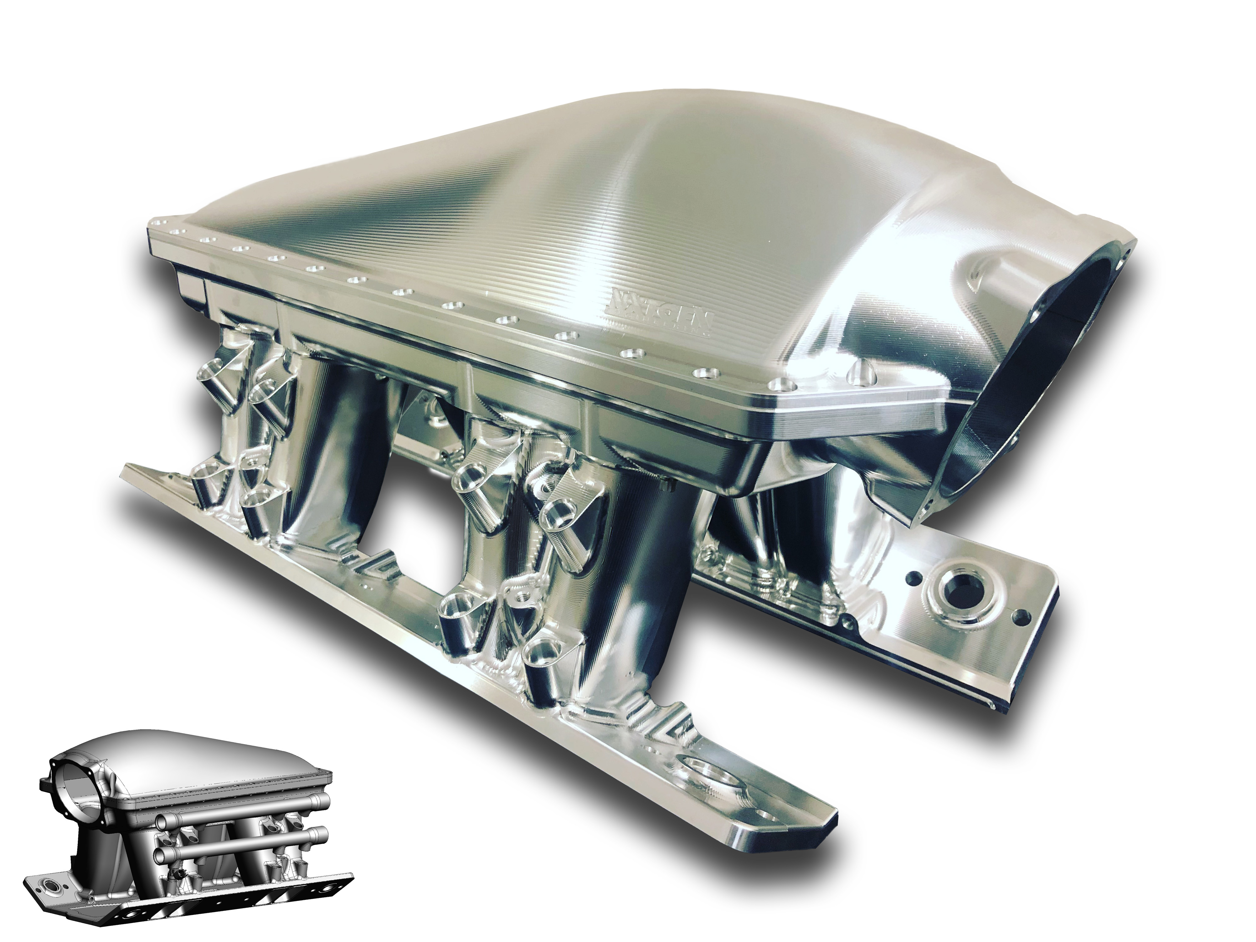 Main Big Block Chevy Valve Covers (Pair) - LHS -12AN Breather